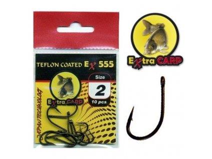 Extra Carp Teflon Hooks série Ex 555 (Velikost háčku 2)