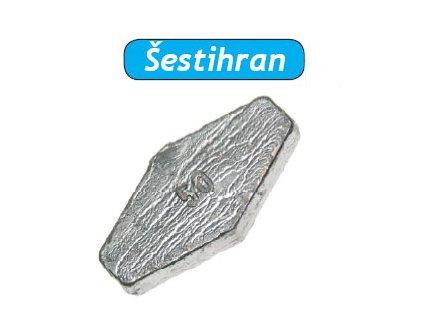 Olovo průběžné Šestihran (Hmotnost zátěže 10g)