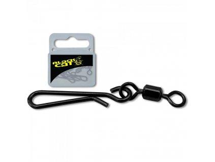 22559 black cat obratlik s karabinkou uni clip black 5ks