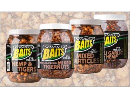 STRATEGY Baits Partikl mix 1,5L (Balení konopí chilli + česnek)
