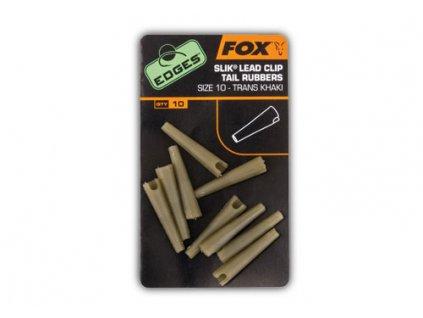 28010 fox edges slik lead clip tail rubber vel 10