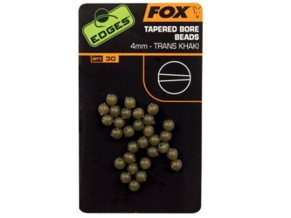 28097 fox edges tapered bore beads 4mm