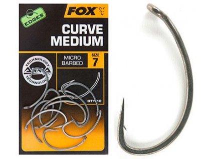Kaprový háček Fox Edges Curve Medium (Velikost háčku 2)