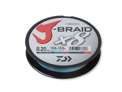 Daiwa J-Braid X8 Multicolor (Průměr 0,28mm 26,5kg)