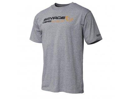 Tričko Savage Gear šedé