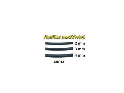 Hadička smrštitelná 5ks černá (Průměr 3mm)