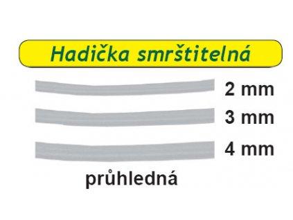 Hadička smrštitelná 5ks průhledná (Průměr 3mm)