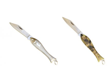 Rybářský nůž - rybička (Barva Stříbrná)