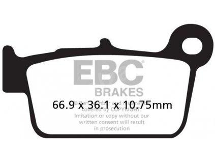 EBC brzdové desky MXS367