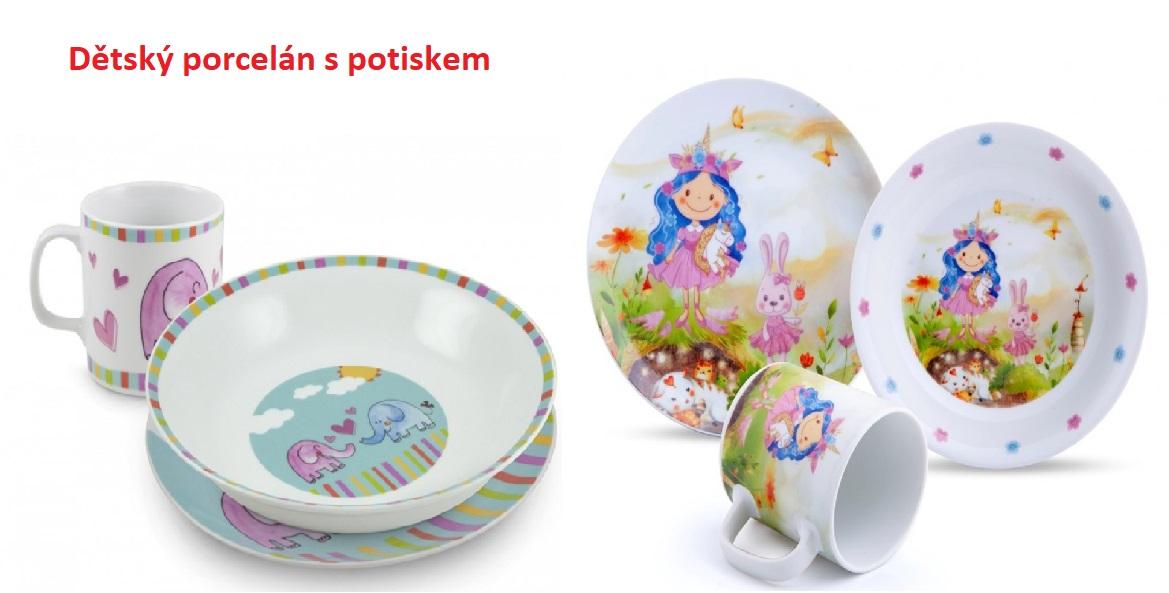 Dětský porcelán s potiskem