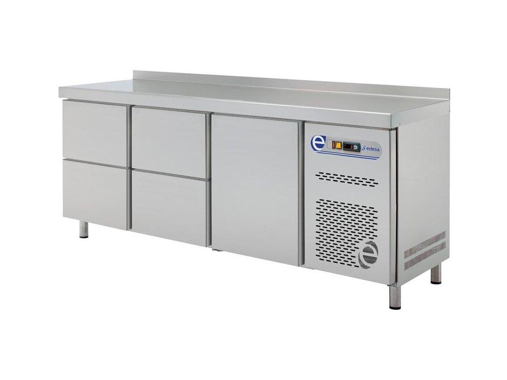 Chladící stůl snack 600mm tři sekce a zásuvky Edesa
