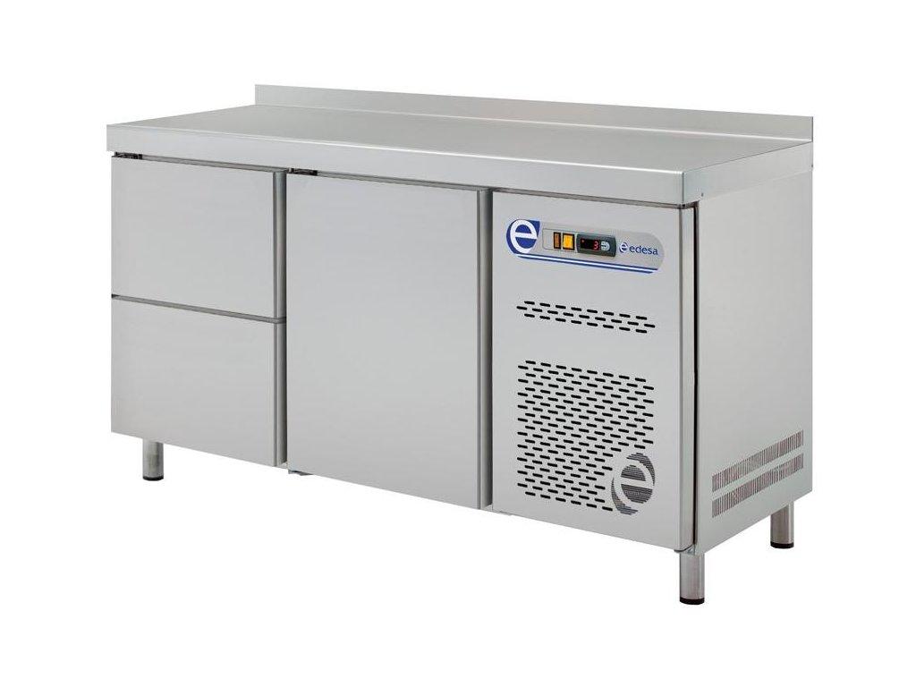 Chladící stůl GN 1/1 700mm dvě sekce a zásuvky Edesa