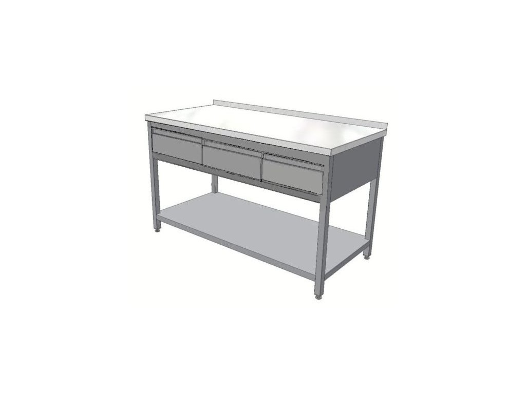 Stůl nerez KSPZH-3 - hloubka 800mm