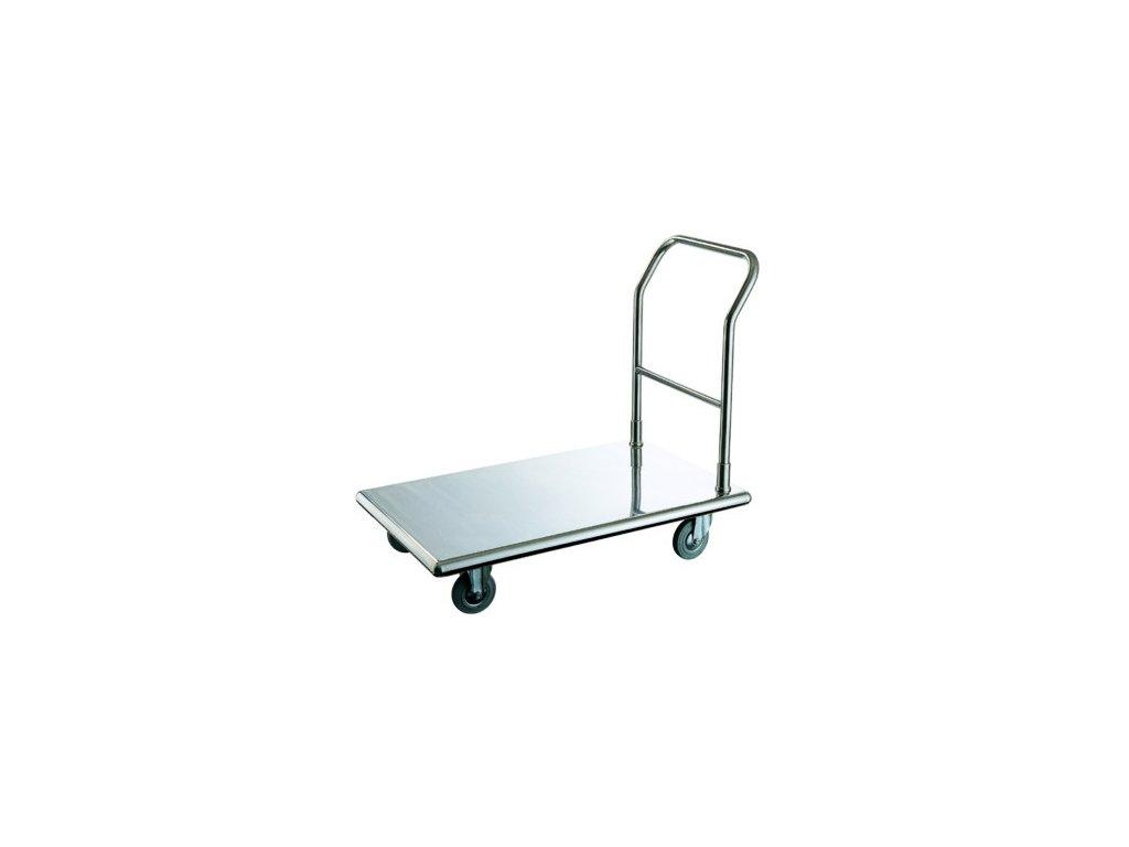 Vozík plošinový nerez s rovnou plošinou