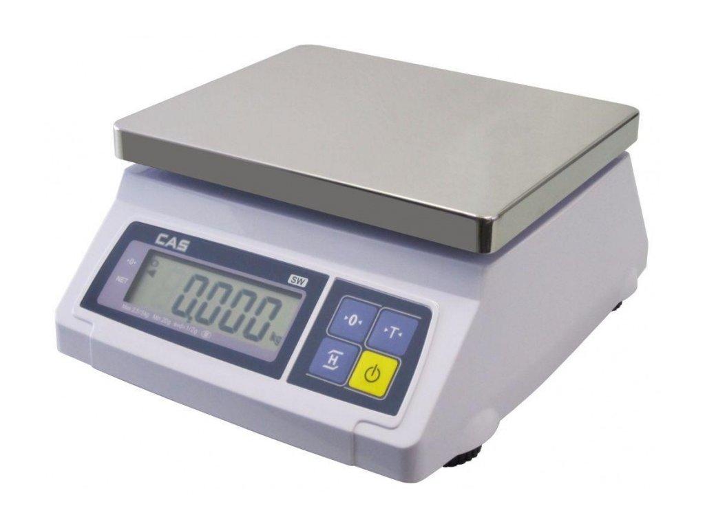 Stolní váha CAS SW 1S-2DR adaptér, nerezová miska a ověření v ceně