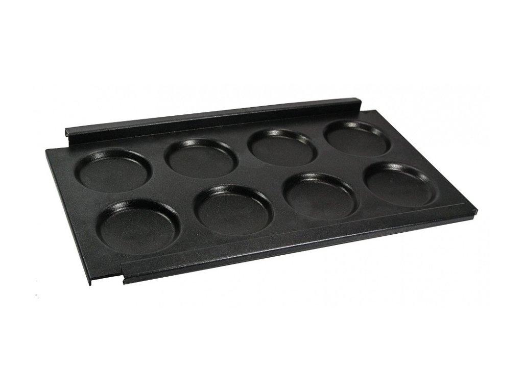 Plech na lívance a vejce 8 důlků M-R11400