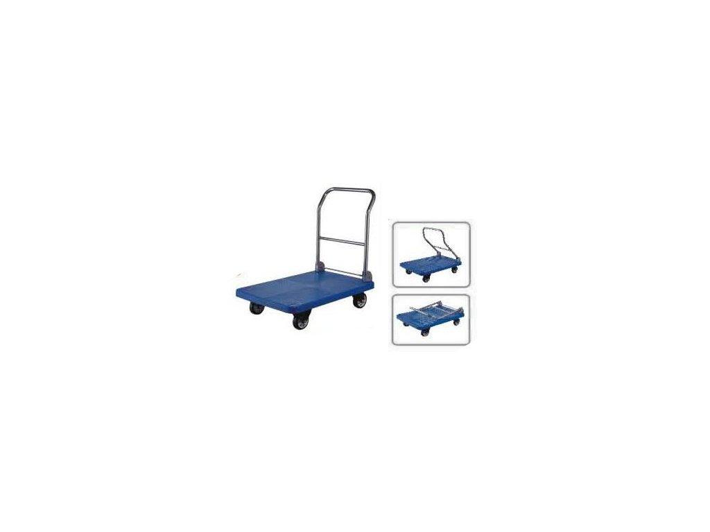 Vozík plošinový modrý DH-142/11