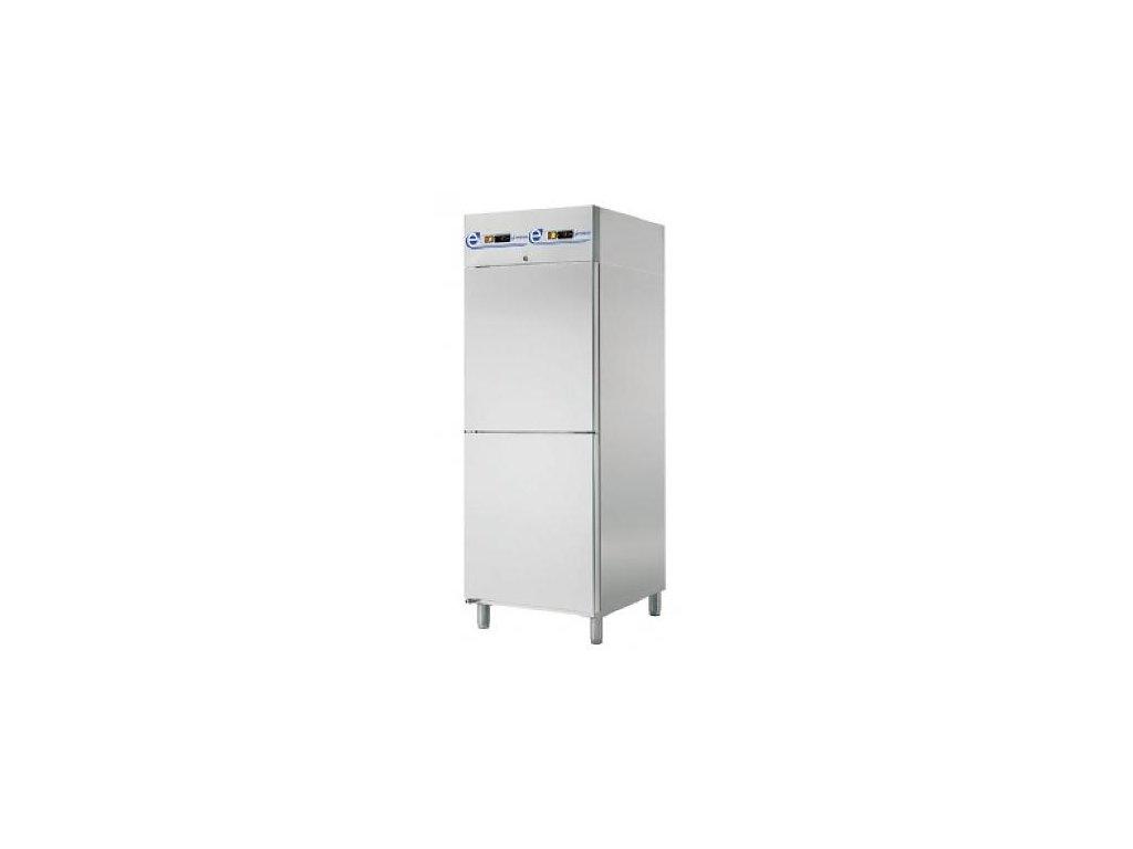 Chladící skříň GN 2/1 700lt. dvouprostorová nerez SPI-072/2 Edesa