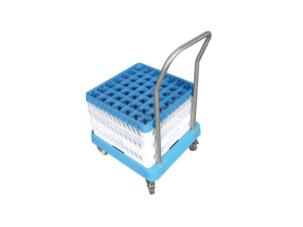 Vozík plastový s rukojetí na koše do myčky C 1122
