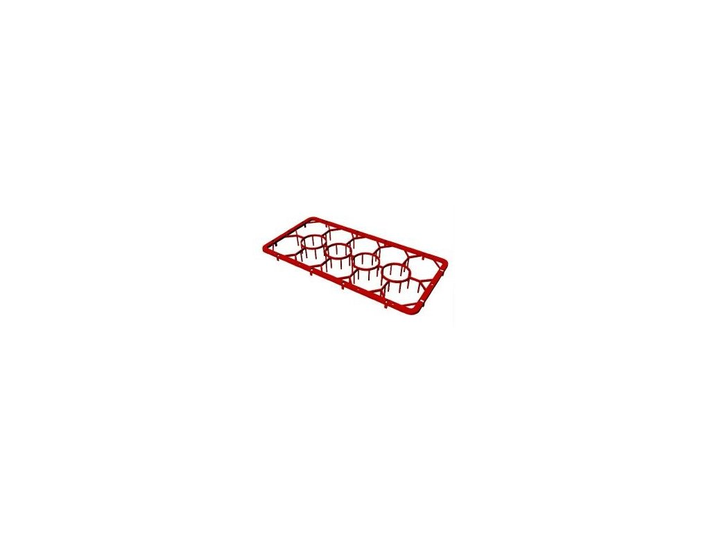 Nástavec plastový na sklenice 14 pozic 1/2 50x25cm C-1412
