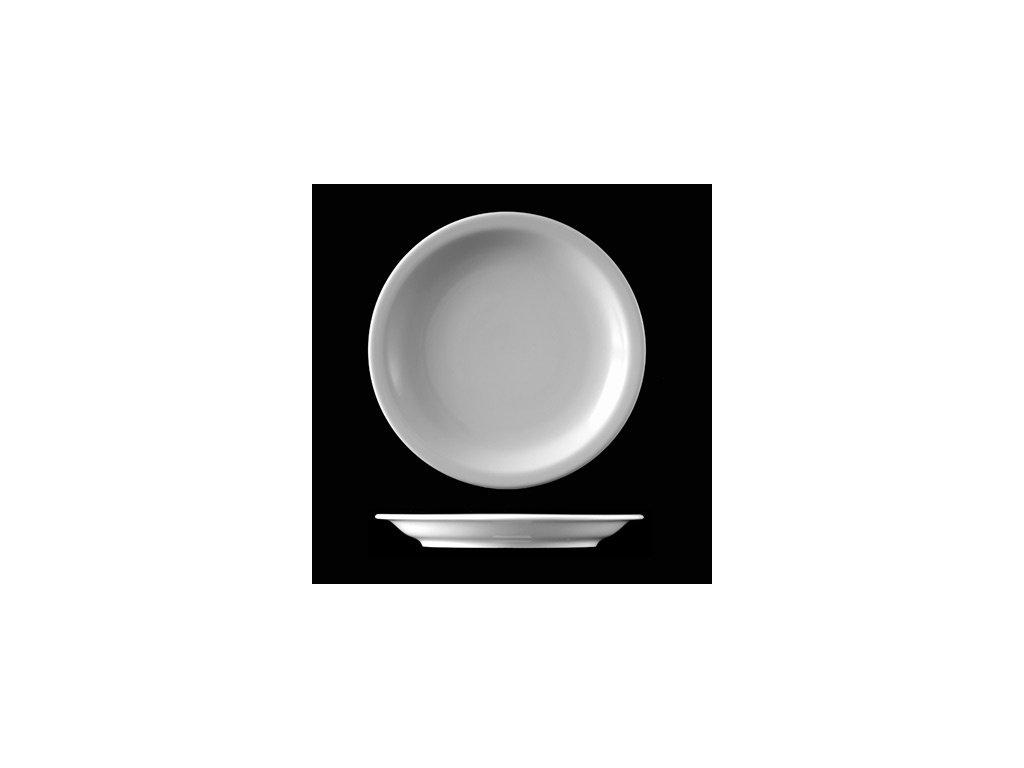 Porcelánový talíř mělký polohluboký zdravotnický průměr 260mm Caldomet