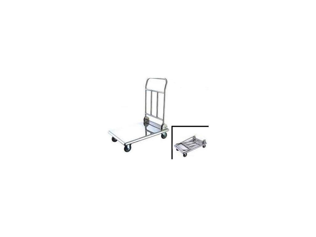 Plošinový vozík nerezový