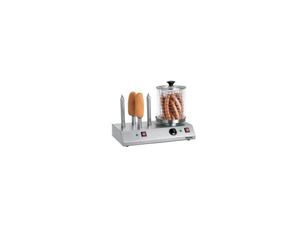 Elektrický přístroj na hotdogy s trny - 4 speciální trny na rohlíky Bartscher