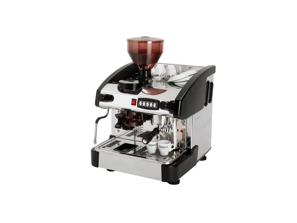 Kávovar jednopákový s mlýnkem - dřevo EMC 1P/W/M/C Red Fox