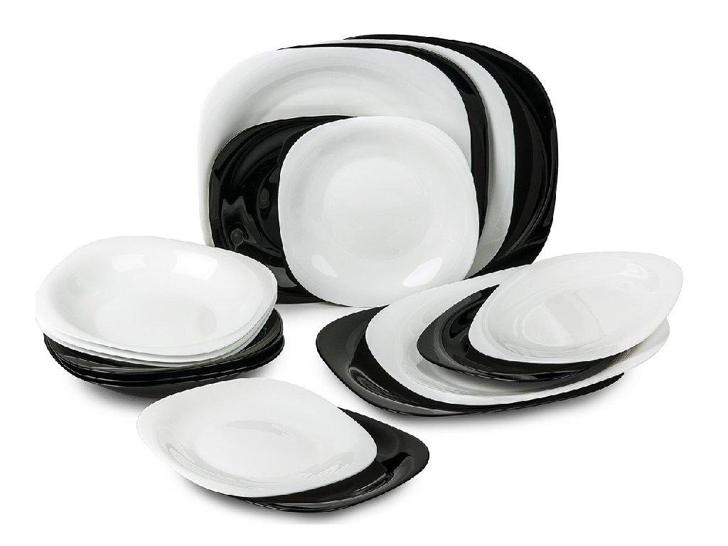 mmilenium.cz velkoobchodgastro.cz Luminarc Carine Black and White jídelní souprava 18 ks