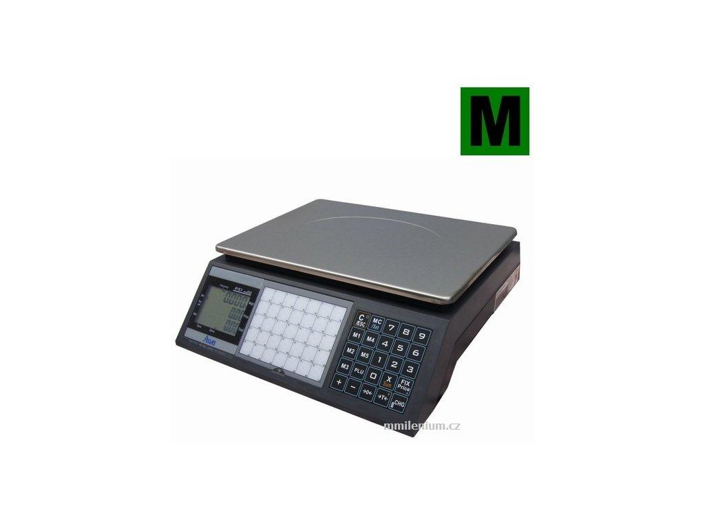 Obchodní váha 6/15kg, 2/5g, ACLAS PS1-15DS, provoz na baterie až 1,7 roku včetně ES ověření