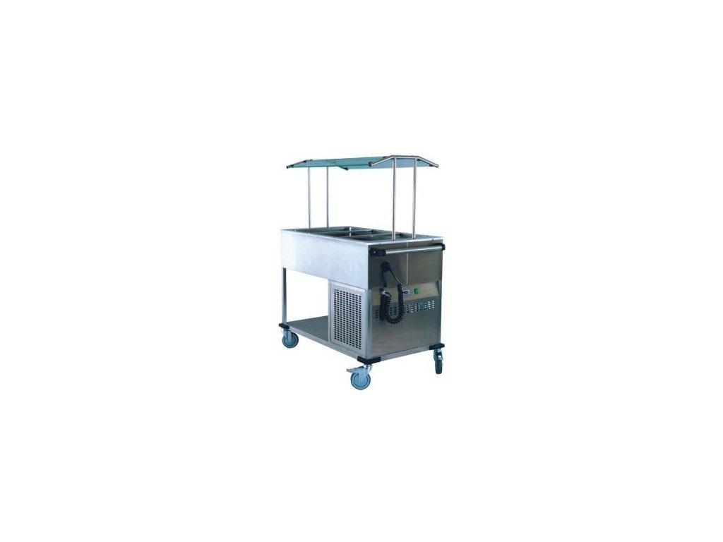 Chladicí vozík EKC 3/1 s hygienickým zákrytem pro 3x GN 1/1-200mm