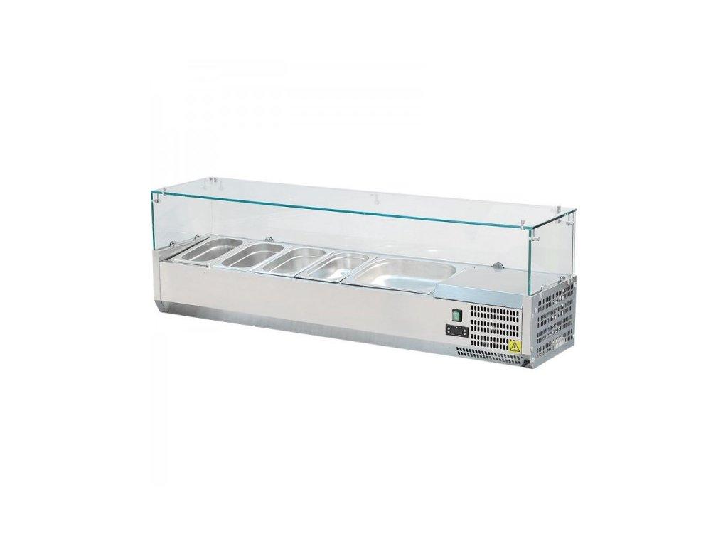 Vitrínka chladící 120cm VCH 3120 Red Fox pro 4x GN 1/3