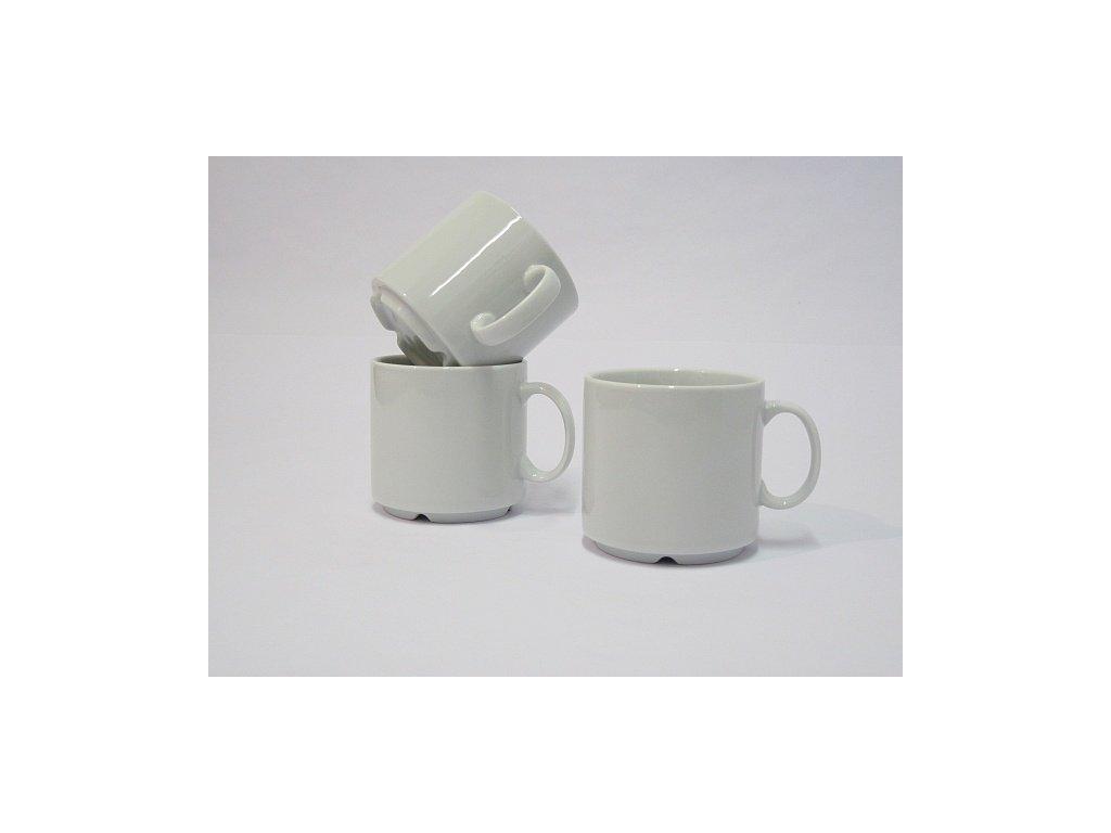 Hrnek 30cl. štosovatelný Tonda porcelán