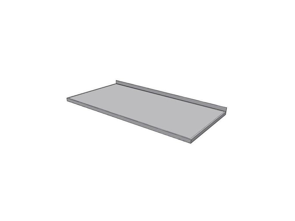 Pracovní deska nerezová KPDZ základní - šíře 800mm