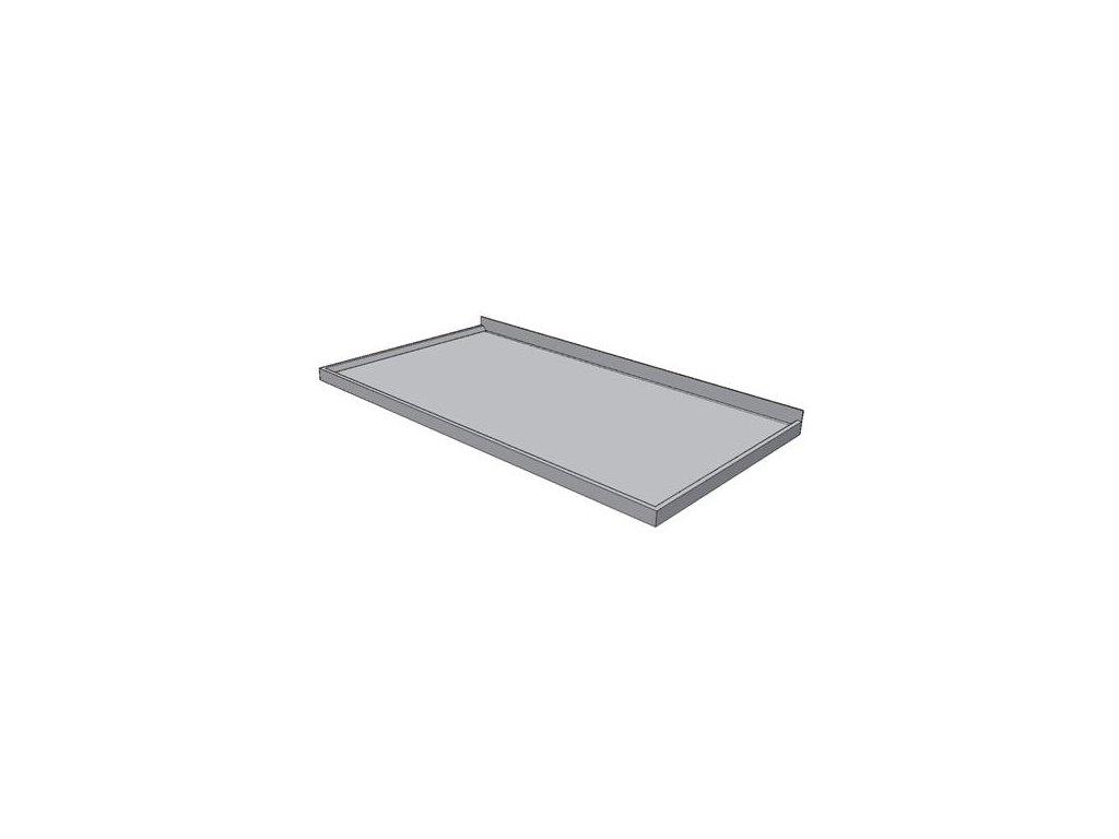 Pracovní deska nerezová s prolamem KPDP - šíře 800mm