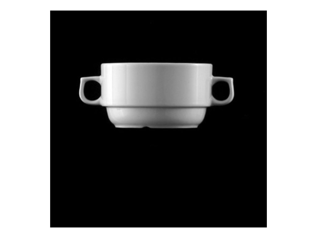 Šálek na polévku 0,46lt. s uchy Praha
