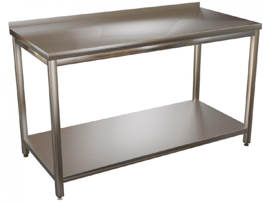 mmilenium.cz velkoobchodgastro.cz Stůl nerez s policí KSPO hloubka 600mm