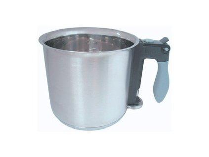 Dvouplášťový nerezový hrnec mlékovar 1,5lt.