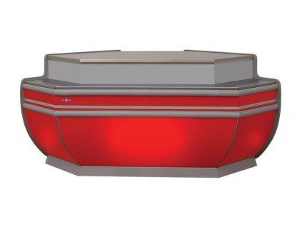 Neutrální rohový modul pro vitriny LD RAPA