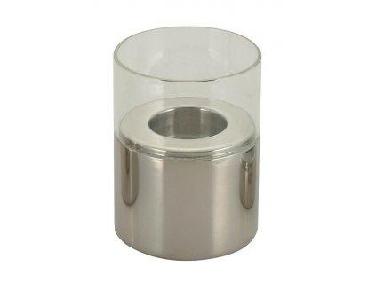 Svícen nerez sklo DH-111-03