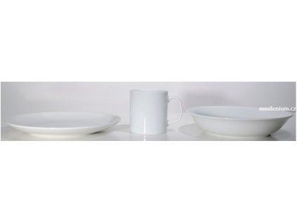 Dětská porcelánová talířová třídílná souprava bez potisku