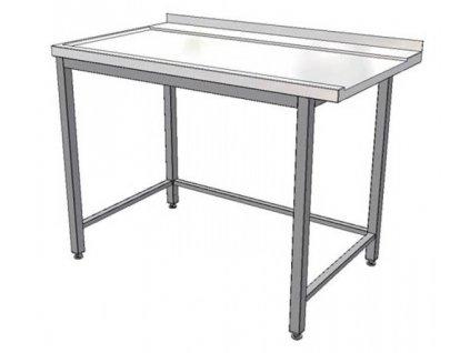 Stůl nerez výstupní k myčce KSM 1100x700
