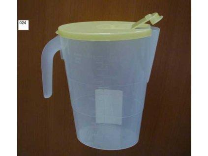 Džbán konvice plast s víčkem 1,5lt.