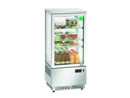 Chladící minivitrína - 78 litrů - nerezová Bartscher 700.478G