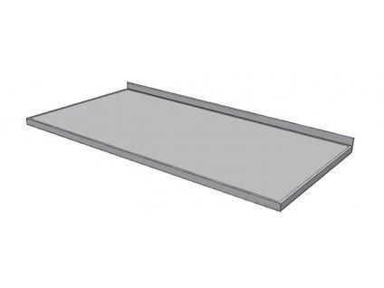 Pracovní deska nerezová KPDZ základní - šíře 600mm