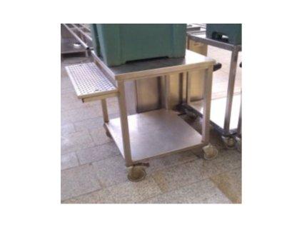 Stůl nerez KSPO pojízdný podstavec pod termos s odkapem 900x700x900mm