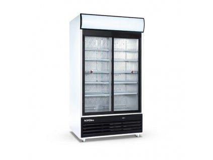 Chladicí skříň Tefcold FSC 1000 S prosklené dveře 700lt.