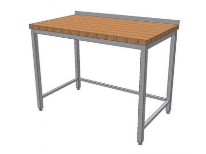 mmilenium.cz velkoobchodgastro.cz Stůl nerez KSPT se dřevěnou pracovní deskou hloubka 600mm
