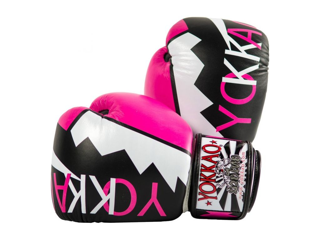 Boxerské rukavice YOKKAO Frost - růžová