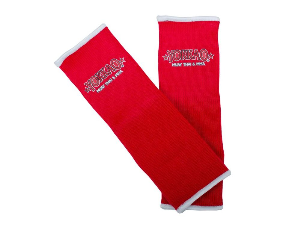 Chrániče kotníků YOKKAO Muay Thai - červená